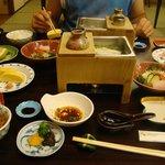 Tipico pasto tradizionale servito in hotel