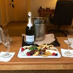 Cheese plate and Champagne