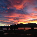 Amazing sunrise over Lake Tekapo - shot from the balcony of Studio Upstairs