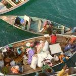Disembarking from Ilala ferry at Likoma Island
