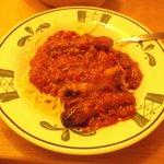 Spaghetti saucisses / 14 juin 2014.