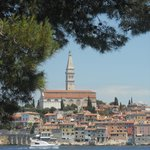 Vista de Rovinj a partir da Ilha Katarina
