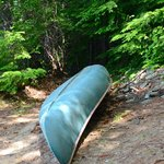 Canoe available for use at the lake