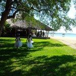 Beach bar, with wedding in progress