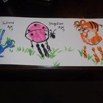 Picture made by my mom and daughters using their hands as a base!!