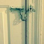 The chain lock was broke!!!