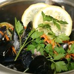 Fresh locally harvested mussels