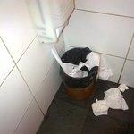 bathroom mess