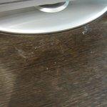klebrige Tischplatte