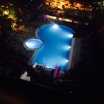Pool all light up on a night time