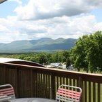Beautiful view of the Catskills and pool from the Austland