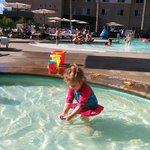 My daughter in the kiddie pool. She loved it