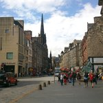 Royal Mile toward to the castle