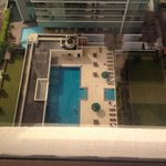 View from 24th floor of the Crescat swimming pool