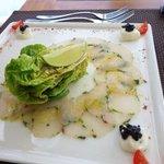 Carpaccio de thazard au restaurant de la toubana un delice !!!