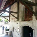 abbazzia di novacella: The Restaurant Entrance