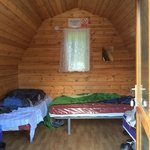 Inside the 4 bed Hiker Hut