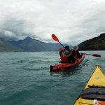Kayaking in Lake Wakatipu