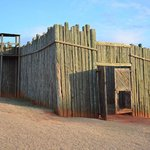 The front gate of the fort/stockade