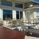 Patio table, lounge chairs -- why not just kick back and enjoy!