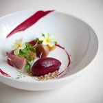 Herb Steamed Beetroots with Blackcurrant Sorbet