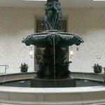 Big fountain in the atrium.
