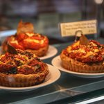 goats cheese and tomato quiches