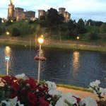 view from our room with River Ness and Inverness Castle.