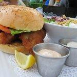 Lion fish burger