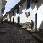 street leading to Amaru Hostal I (uphill on the left)