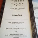 menu midi