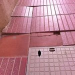 Uneven prodtruding tiling