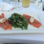 entrée : saumon frais