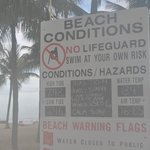Rules Sign At Lago Mar Beach Entrance