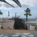 Vista dalla zona relax/piscina