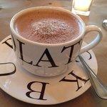 Decadent hot chocolate (milk or dark) is good anytime--even dessert.
