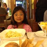 That's my 7 year old after tasting her amazing spaghetti