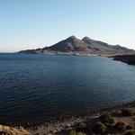 Vista de Los Escullos desde la Isleta del Moro