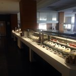 Just one side of the buffet selection