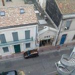 Vue de la chambre 68 sur le restaurant Marocain Regency