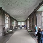 The great hall where ladies could exercise when wet outside