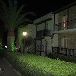 Hotel apartments at night