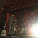 Some Pennants (near the Bar, to the right)