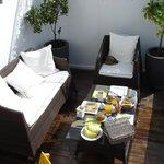 Breakfast on the lower terrace