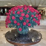 Beautiful roses in the lobby.