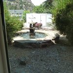 View of fountain outside our room