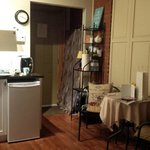 View of kitchenette area
