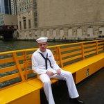 My new Navy Grad enjoying the water taxi!