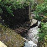 From Iron Bridge at Bracklinn Falls