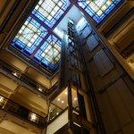 Vue de l'intérieur, ascenseur